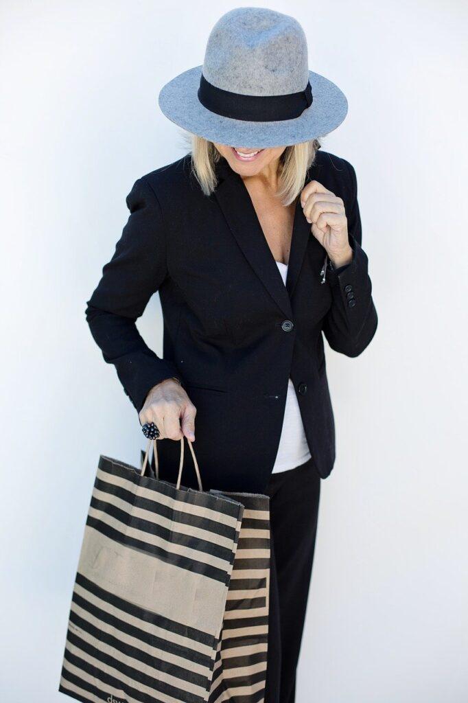 shopping, woman, shopping bag